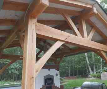 White Oak Frame for Outdoor Kitchen.  Outdoor Kitchen by Homestead Heat.