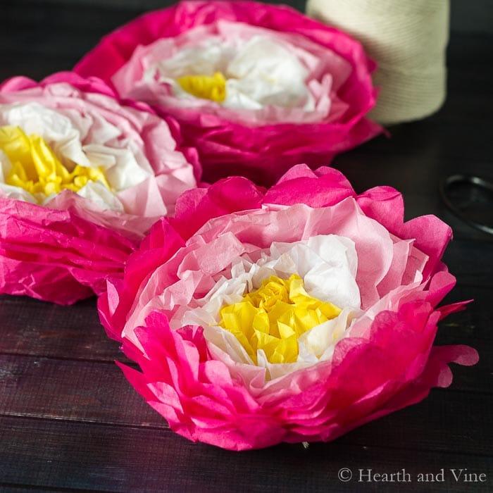 Make A Paper Flower Garland