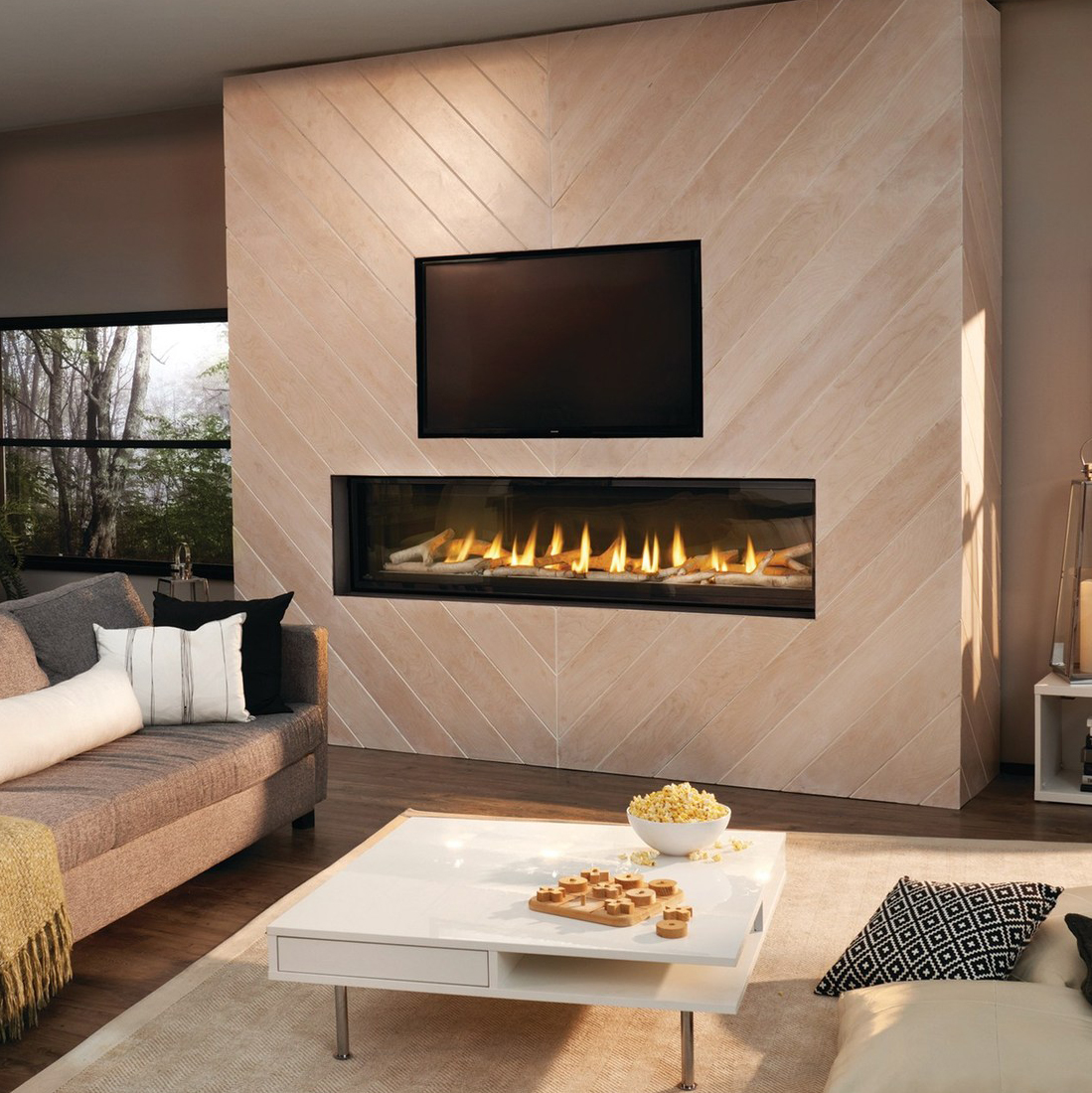 fireplace look gas a mr above your you hng fireplaces refined gasfp can primo also safely designer hang the clean create for space right with television artwork linear or perfect