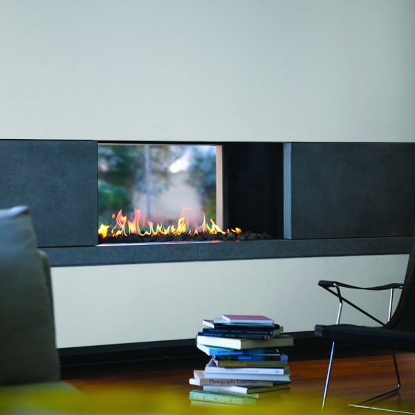 Clear 110 Tunnel Ortal Gas Fireplace by Hearth Manor Fireplaces