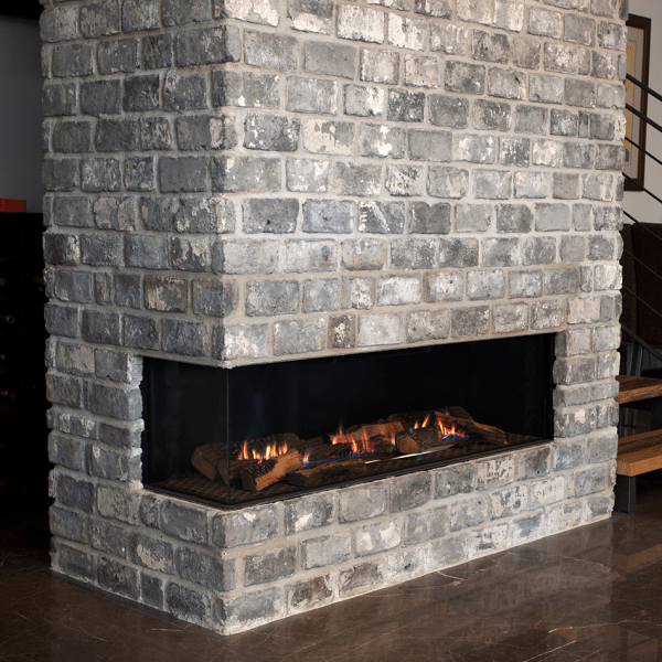 Coner gas fireplace by Ortal from Hearth Manor Fireplaces