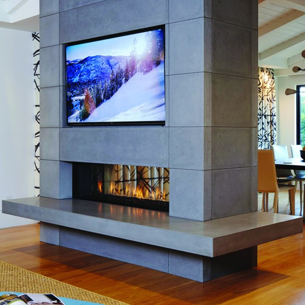 Clear 150 Tunnel gas fireplace by Ortal from Hearth Manor Fireplaces