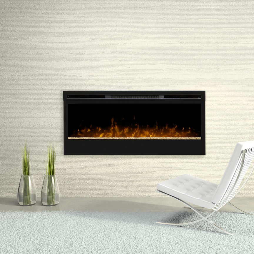 Synergy Wall Mounted Fireplace by Dimplex in a White Room