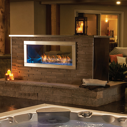 Galaxy See Thru Napoleon Gss48 See through outdoor gas fireplace