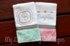 Personalized Burp Cloths Etsy