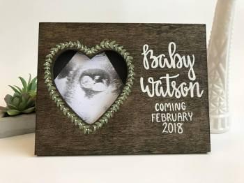 Ultrasound Frame, Sonogram Picture Frame, Pregnancy Announcement Frame, Pregnancy Frame, Pregnancy Gift, Pregnancy Reveal Frame