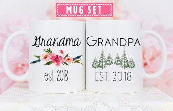 Grandparent Mugs, Pregnancy Reveal To Grandparents, Pregnancy Announcement Grandparents, New Grandparents, Personalized Mugs, future grandma