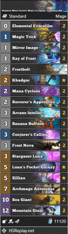 Summon Mana Cyclone Mage #1 Legend - bloodyfaceHS