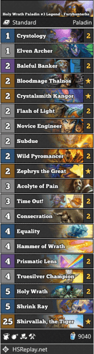 Holy Wrath Paladin #3 Legend - Furyhunterhs
