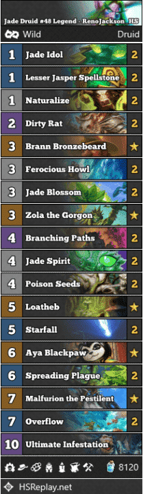 Jade Druid #48 Legend - RenoJackson_HS