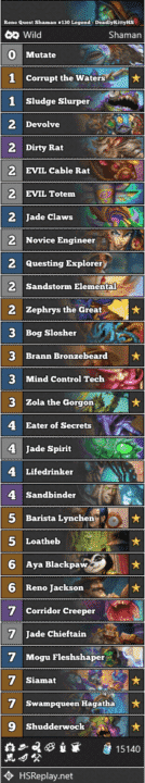 Reno Quest Shaman #130 Legend - DeadlyKittyHS