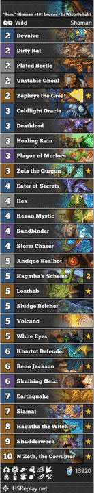 """Reno"" Shaman #101 Legend - hsWhiteDelight"