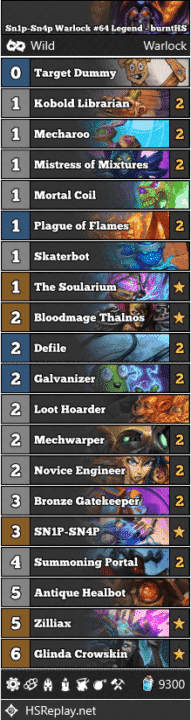 Sn1p-Sn4p Warlock #64 Legend - burntHS