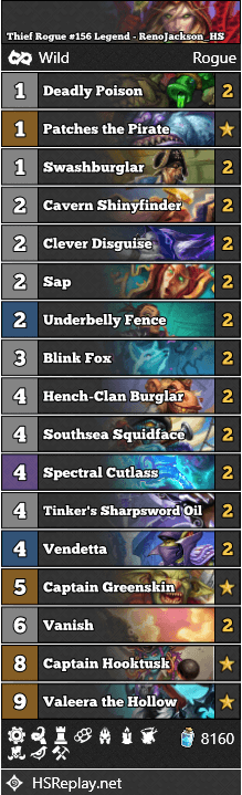 Thief Rogue #156 Legend - RenoJackson_HS