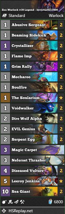 Zoo Warlock #39 Legend - Invictus9213408