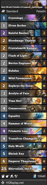 Holy Wrath Paladin #4 Legend - Imfiredupp