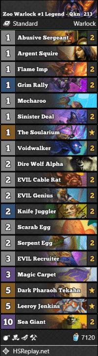Zoo Warlock #1 Legend - Qkn_213