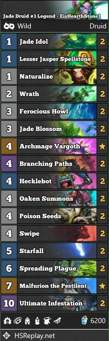 Jade Druid #3 Legend - EisHearthStone1