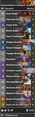 Galakrond Warrior #12 Legend - GrJim_hs