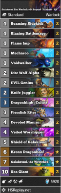 Galakrond Zoo Warlock #24 Legend - Athanas_HS