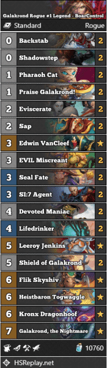 Galakrond Rogue #1 Legend - BoarControl
