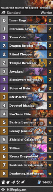 Galakrond Warrior #18 Legend - lowseek