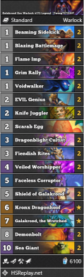Galakrond Zoo Warlock #172 Legend - Tweeg75731937