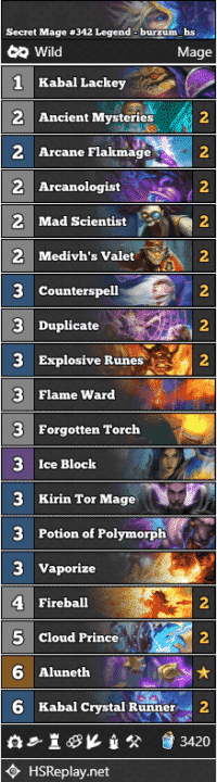 Secret Mage #342 Legend - burzum_hs