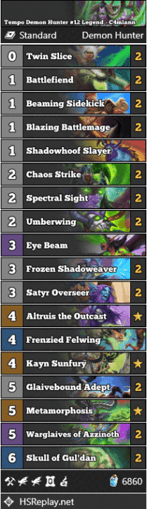 Tempo Demon Hunter #12 Legend - C4mlann