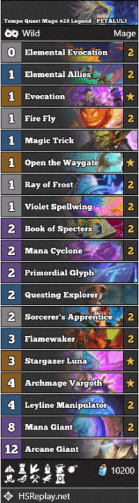Tempo Quest Mage #28 Legend - PETALUL3