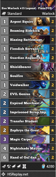 Zoo Warlock #35 Legend - PizzaTCG