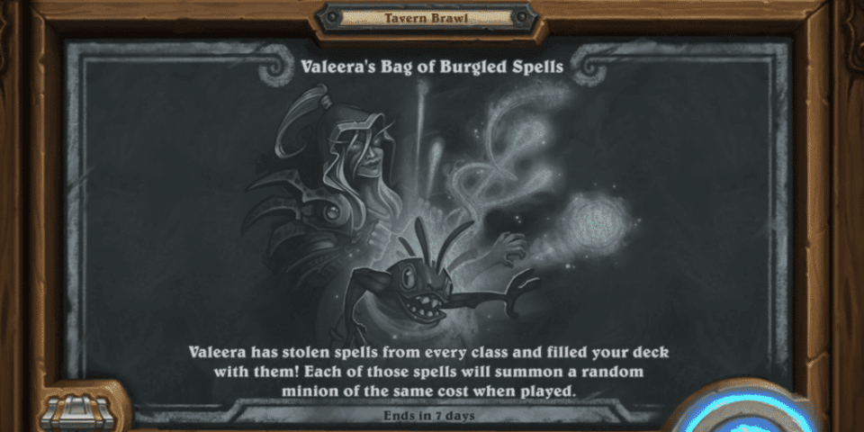 Tavern Brawl Valeera's Bag of Burgled Spells Social Media