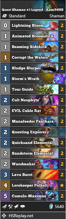 Quest Shaman #3 Legend - Rami94HS