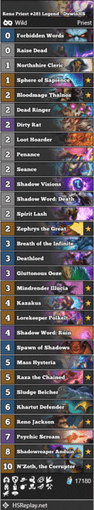 Reno Priest #281 Legend - DuwinHS
