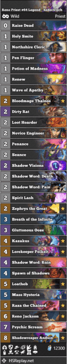 Reno Priest #64 Legend - hsdecktech
