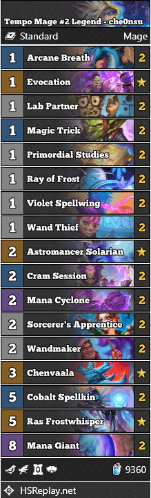 Tempo Mage #2 Legend - che0nsu