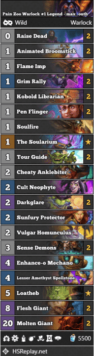Pain Zoo Warlock #1 Legend - max_outh