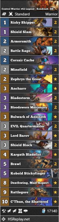 Control Warrior #62 Legend - Kondrash_HS