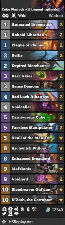Cube Warlock #11 Legend - gifmekill