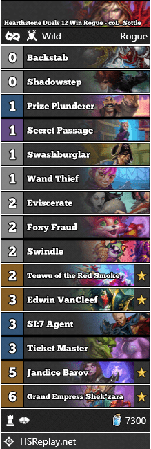 Hearthstone Duels 12 Win Rogue - coL_Sottle
