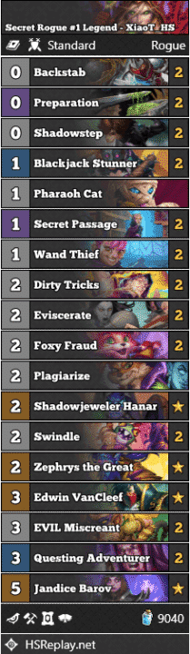 Secret Rogue #1 Legend - XiaoT_HS