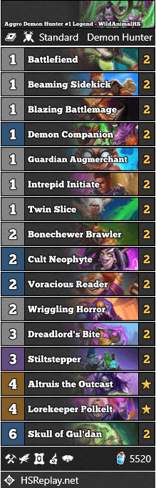 Aggro Demon Hunter #1 Legend - WildAnimalHS
