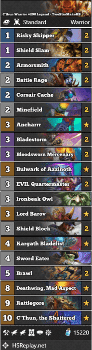 C'thun Warrior #290 Legend - TwoStarMakoHS