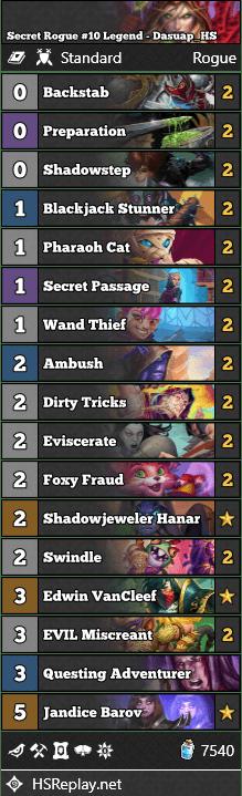 Secret Rogue #10 Legend - Dasuap_HS