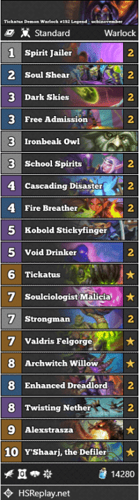 Tickatus Demon Warlock #192 Legend - uchinovember