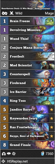 Hearthstone Duels 12 Win Mage - AndreaPersiani_