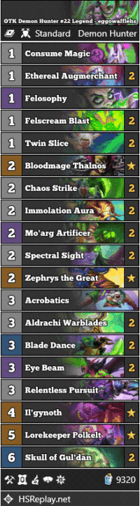 OTK Demon Hunter #22 Legend - eggowafflehs