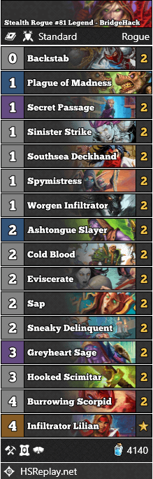 Stealth Rogue #81 Legend - BridgeHack