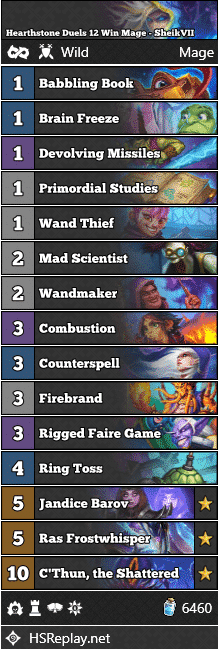 Hearthstone Duels 12 Win Mage - SheikVII