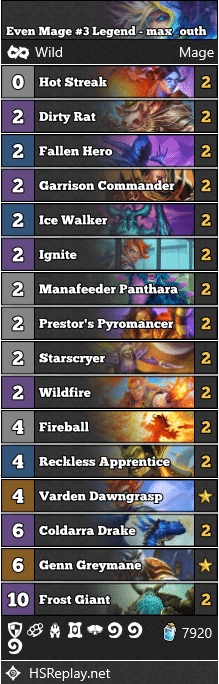Even Mage #3 Legend - max_outh